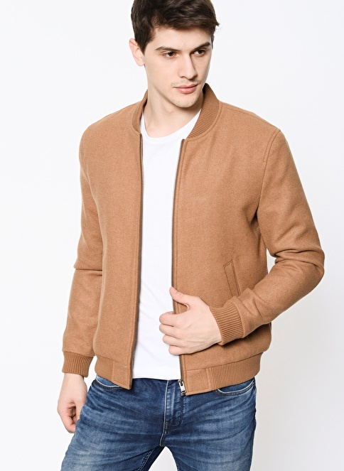 Selected Bomber Ceket Camel